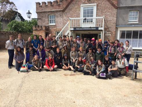The whole Unit on Brownsea Island