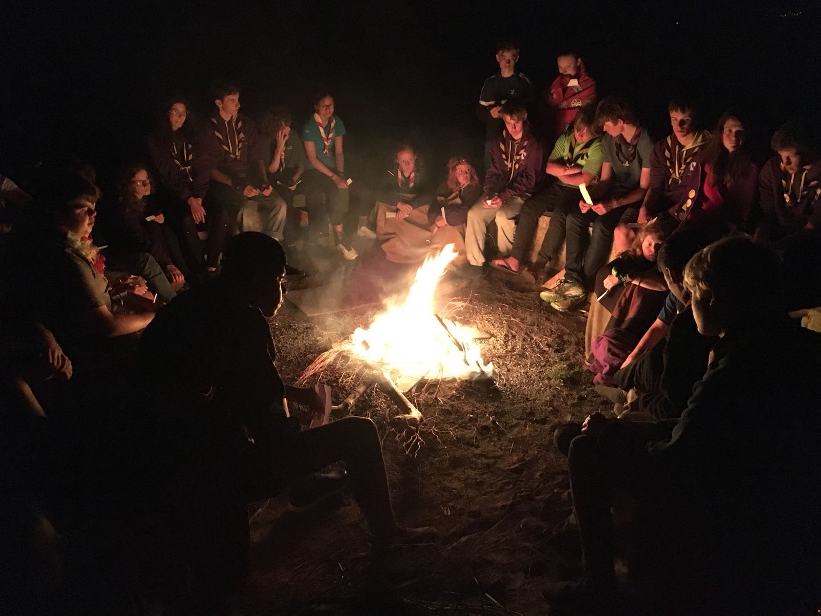 A nice campfire for the last night of camp
